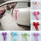 1Pc Wedding Car Decor Flower Door Handles Rearview Mirror Co