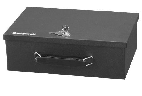 Honeywell Safes & Door Locks - Resistant Steel Box 0.17-Cubic Black