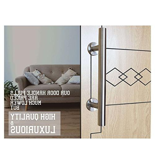 NAPUPRO Barn Door - Door and Flush 304 Steel , Silver , Door Handle Hardware Wood Doors