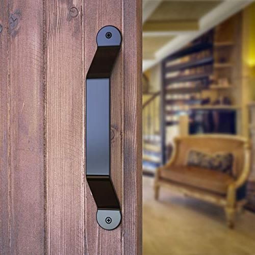 barn door handle black solid