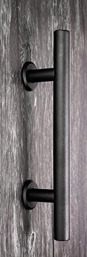 Handle and Set Steel Sliding for Interior Doors, Easy to and Heavy 2 Sets Screws