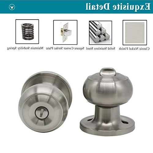 Probrico Privacy Interior Knobs Bed and Handle Nickel 6