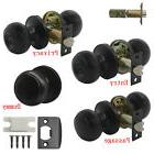 Black Door Knobs Entry Keyed/Keyless Handles Locks Privacy/P