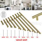 Brass T Bar Cabinet Door Handles Euro Style Stainless Steel