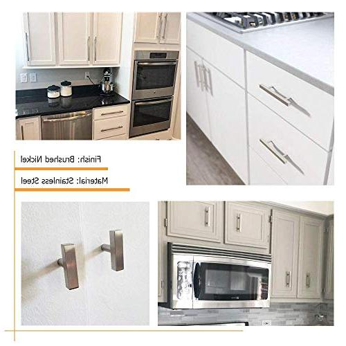 Knobs Knobs for Cabinets - HDJ22SN with 2 Overall Length Drawer Knobs Modern Hardware for Bedroom Drawers