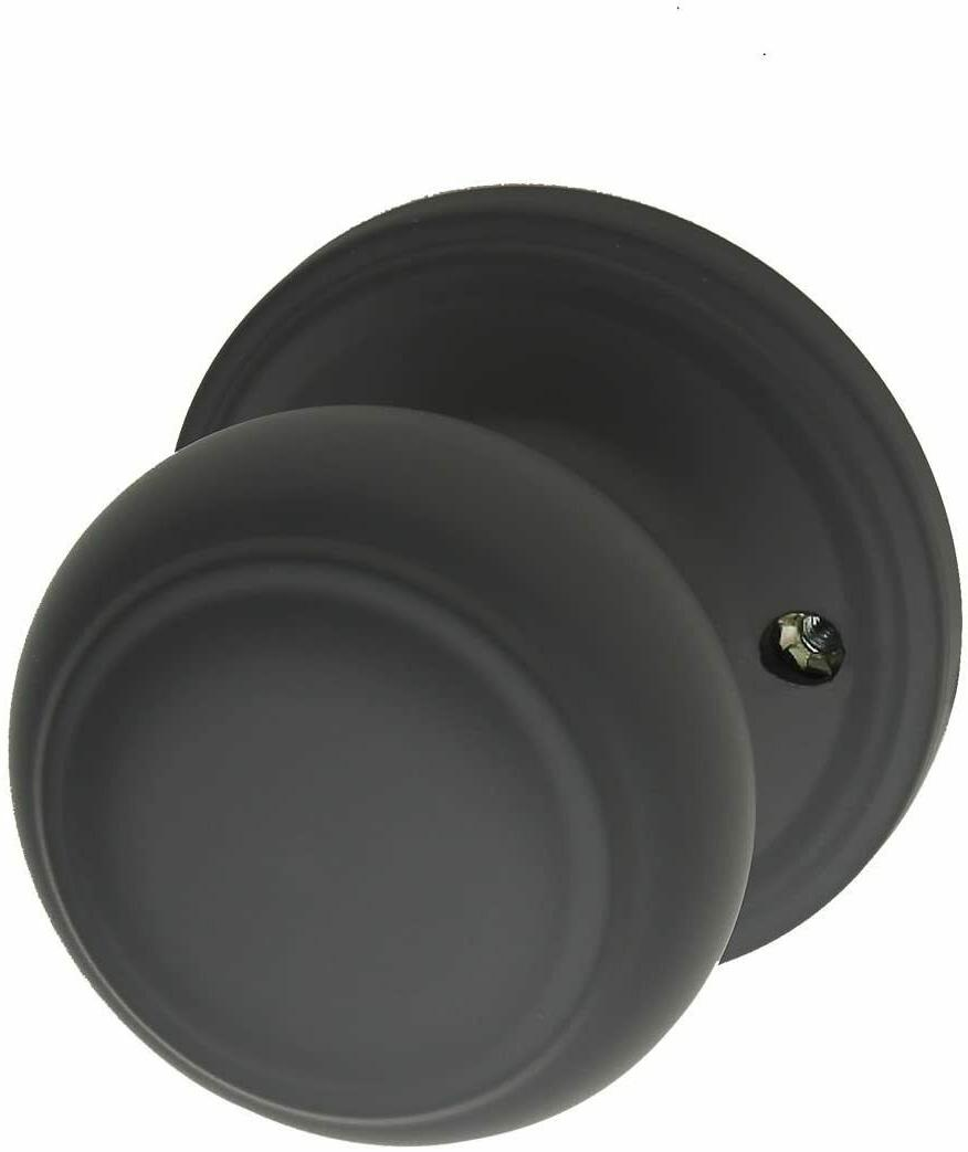 Copper Creek Colonial Dummy Door Knob Black