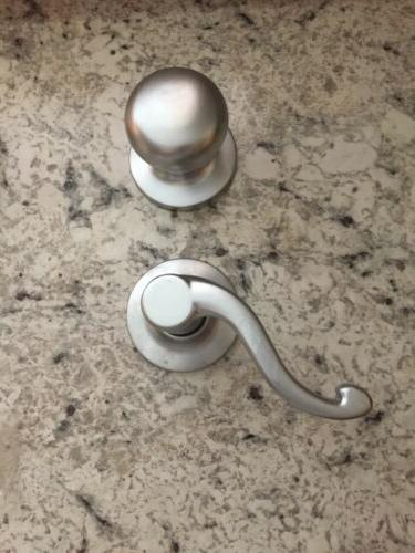 Yale Complete Door Handle Handleset Silver US15