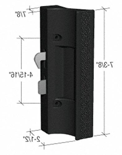 CRL Black Sliding Door Handle with Latch C1216 by Laurence