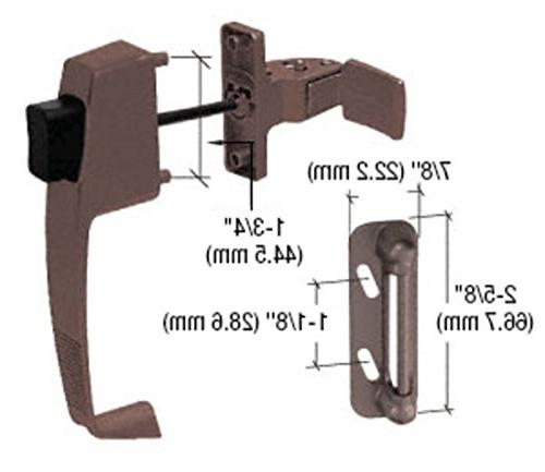 CRL Brown Button Latch Down Screw Holes by Laurence by CR