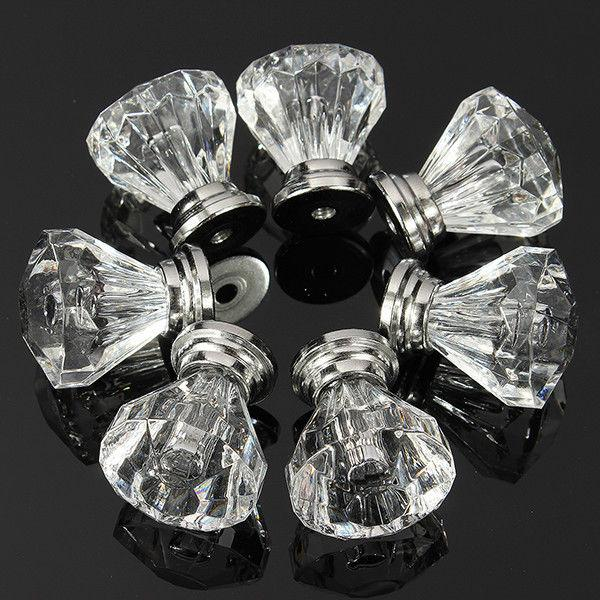 Crystal Drawer Cupboard Cabinet Furniture Handles