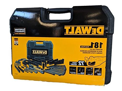 DEWALT DWMT81522 Mechanics Tool Set, Black Chrome Polish, 18
