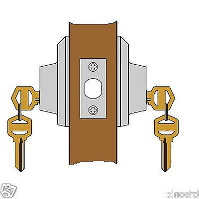 New Deadbolt Door Handle Satin Nickel With 3 Keys