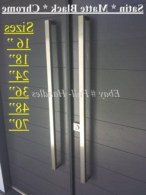 Entrance Entry push Long stainless