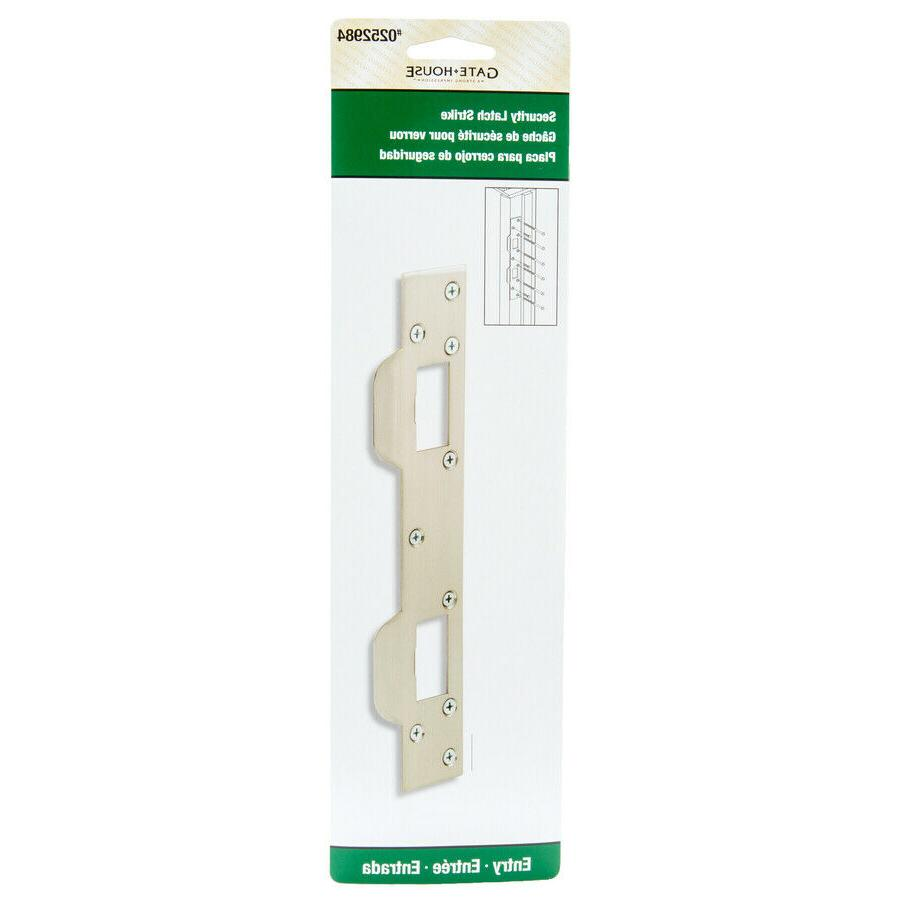 entry door strike plate stainless steel 11