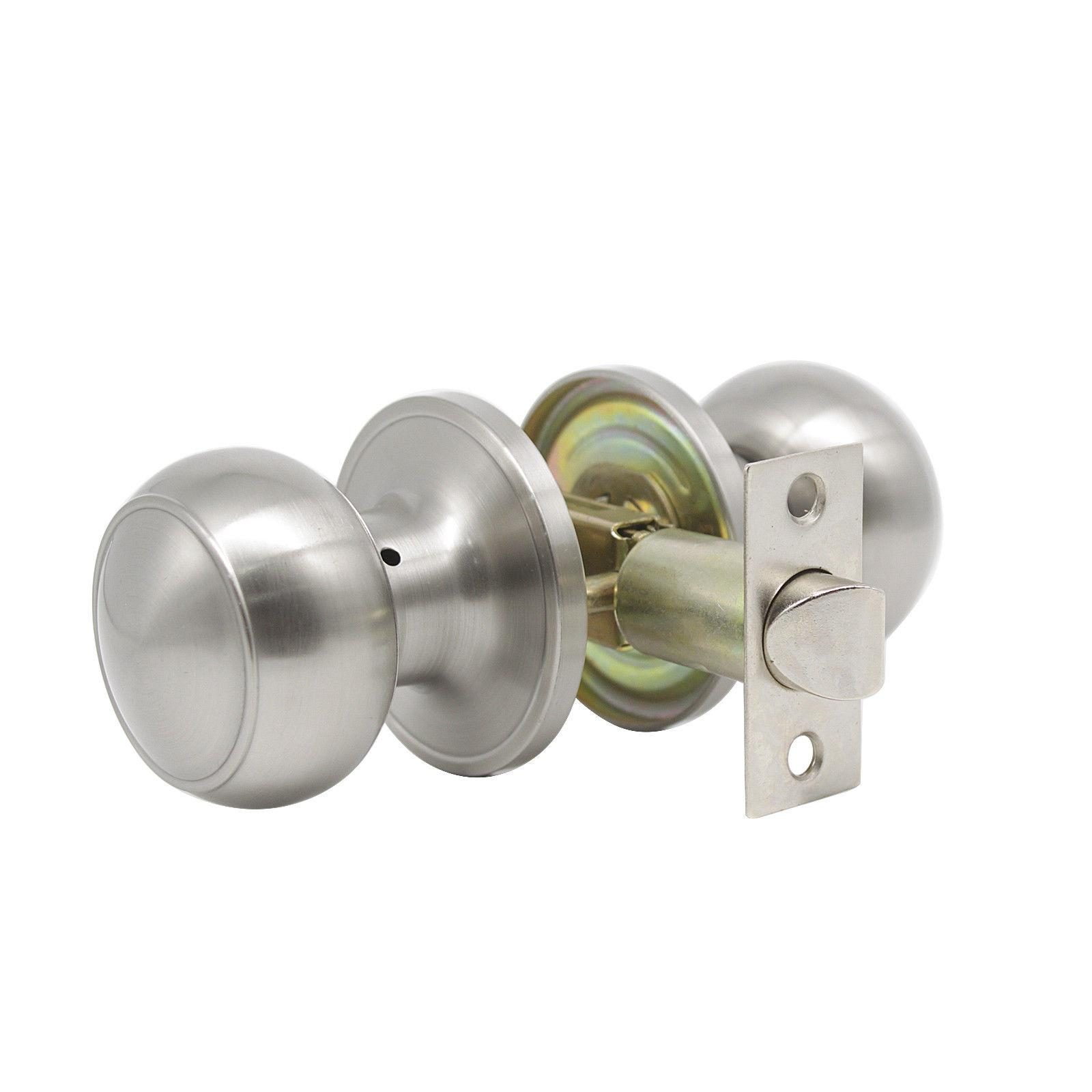 Entry Front Door Handle set Lock Deadbolt Passage Knobs Nickel