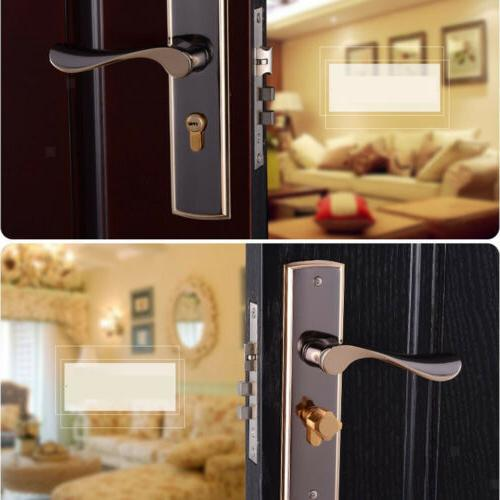 Fashion Handle Cylinder Front Latch Home Room Safety