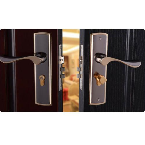 Fashion Cylinder Front Back Latch Home Room Safety