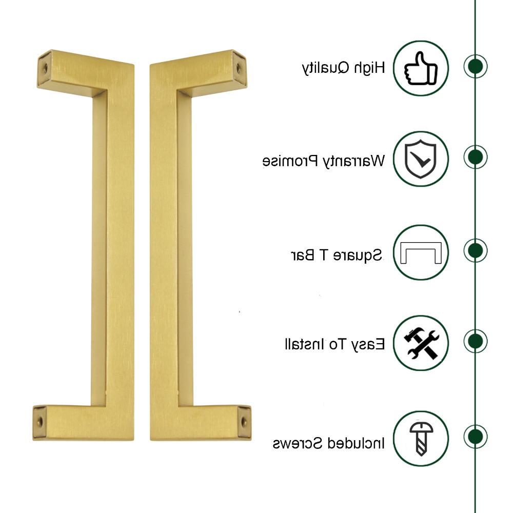 <font><b>Probrico</b></font> Golden Kitchen Cabinet <font><b>Handles</b></font> Modern Pulls Knobs 12mm Hardware