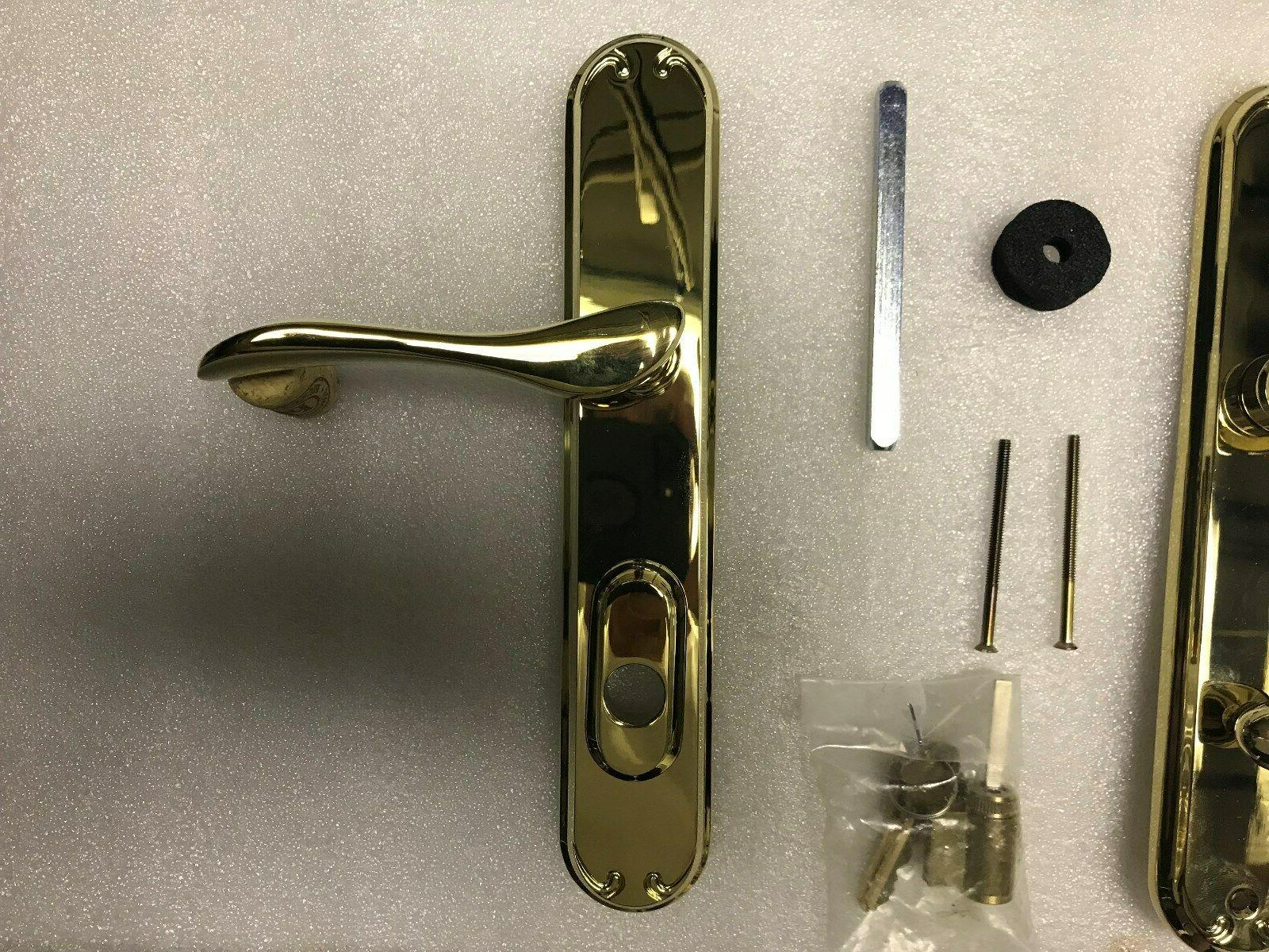 PELLA FRENCH DOOR HANDLE SHINY HAND WITH KEY CYLINDER AND TWO KEYS