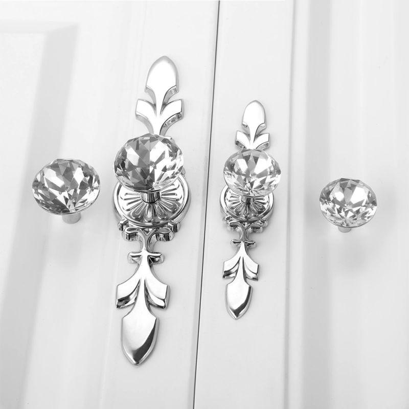 Glass Crystal Drawer Pull Bar Pulls