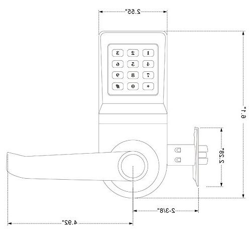 HAIFUAN Door with Remote Card, and Key,Handle Direction