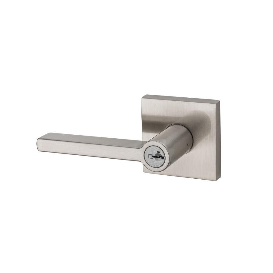 kwikset halifax satin nickel keyed entry door lever with sma