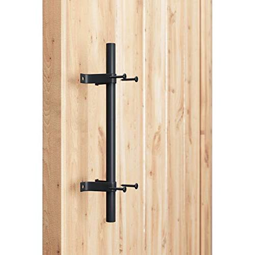 "SMARTSTANDARD Heavy Barn Door Long 12"", for Furniture Cabinet Black"