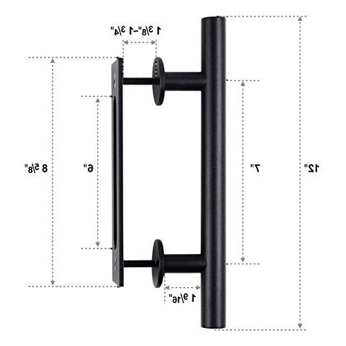 Pull and Flush Handle Set Sliding Door Handle