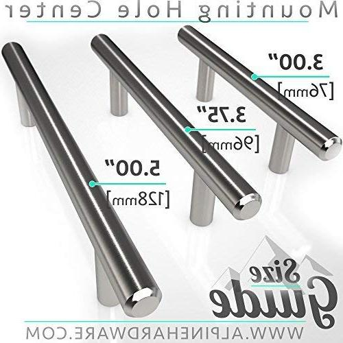 Alpine ~ | Stainless Bar Handle Pull A Finish Kitchen Hardware/Dresser Drawer Handles