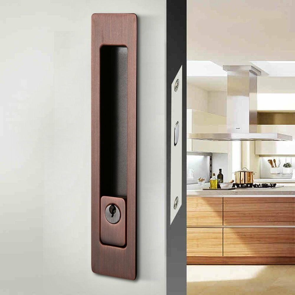 Invisible Durable Door Handle with for Wood Sliding Barn