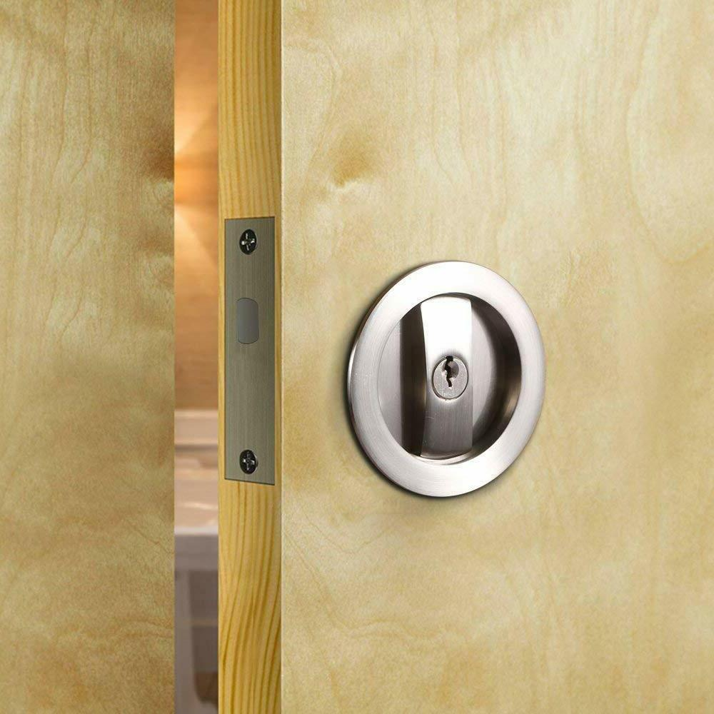 Invisible Handle with Keys for Wood Doors