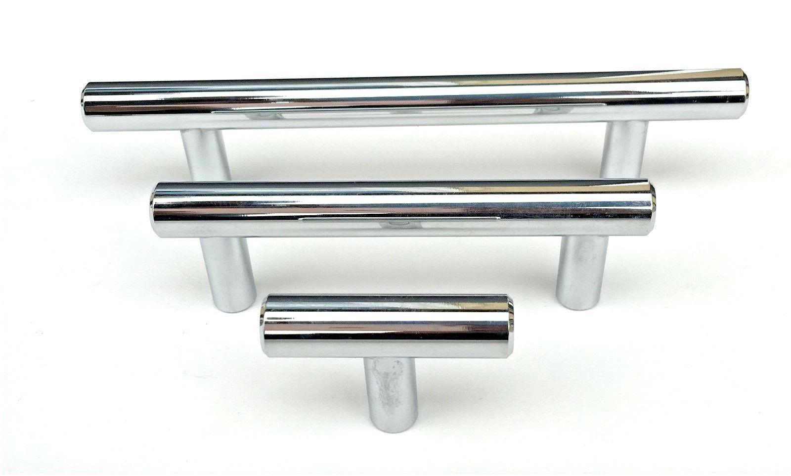 kitchen cabinet door handle polished chrome solid