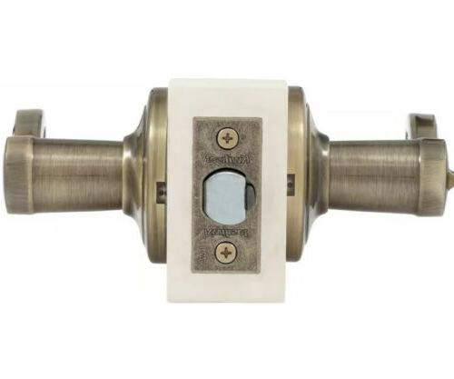 Kwikset Entry Lever featuring SmartKey Antique Brass