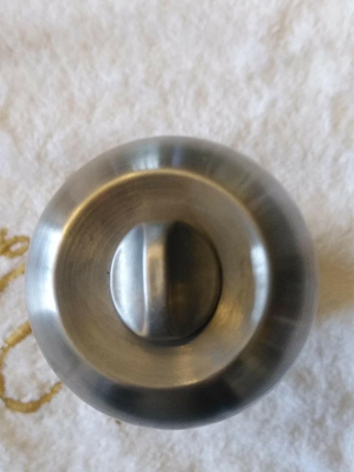 Lot of 10 Nickel Round handle Entry Privacy Knobs