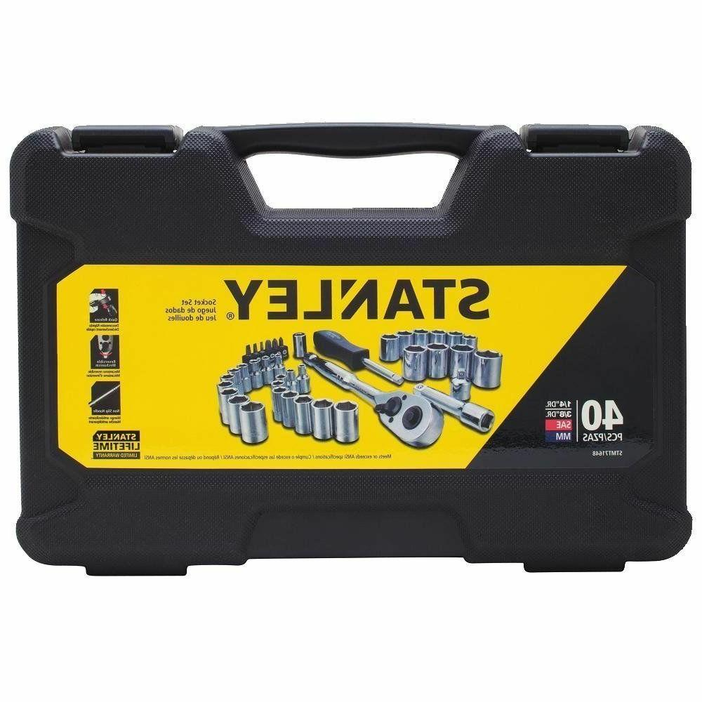 Stanley Mechanics Tool Set 40 Piece Wrenches New Case Kit So