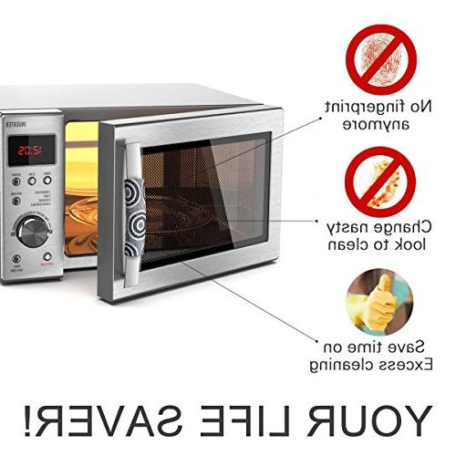 OUGAR8 Microwave Cover-Catches Drips,Dust,Smudges Leaving for Covers Appliances
