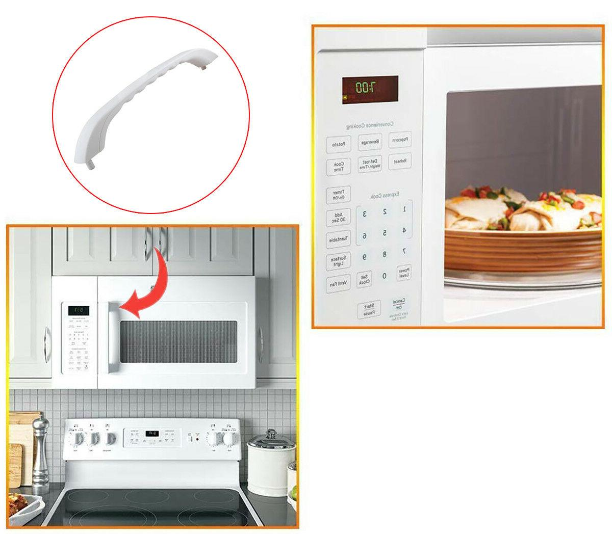 Microwave Door Pulling Handle White For XL JVM1330WW 1340WW