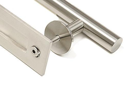 STRONGAR Modern Contemporary Pull and Handle Set/Commercial/Residential Grade Steel/Satin Finish