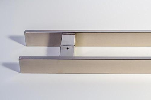 Modern Contemporary SquareRectangle Bar 12 Push-Pull Stainless-Steel Door