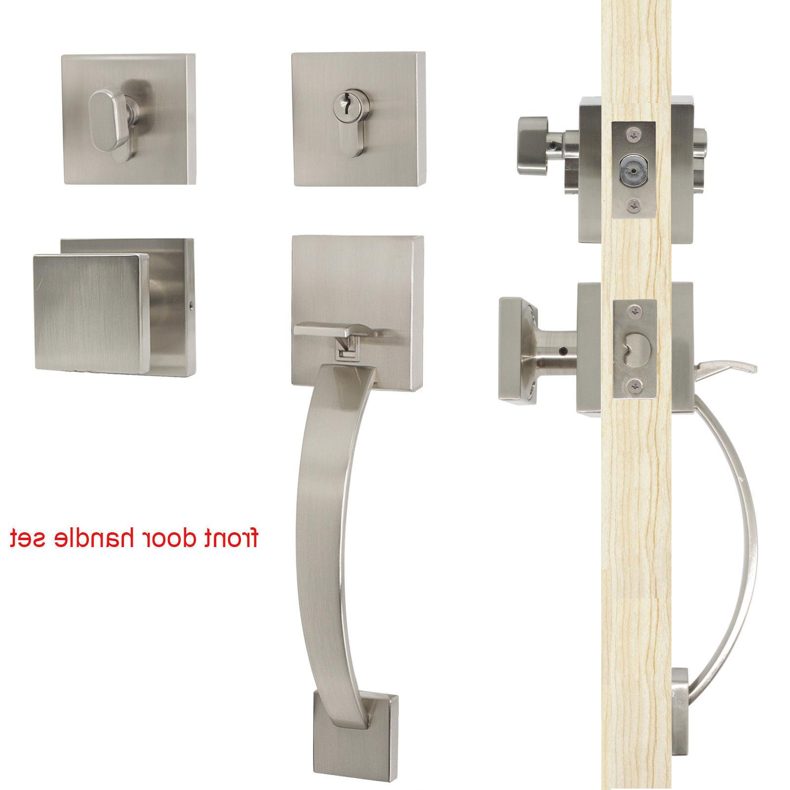 new entry exterior front door handle set