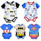 Newborn Baby Boy Girl Marvel Super Hero Romper Jumpsuit Body