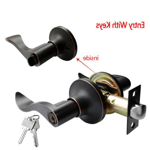 Oil Rubbed Bronze Knob lever Entry Deadbolt