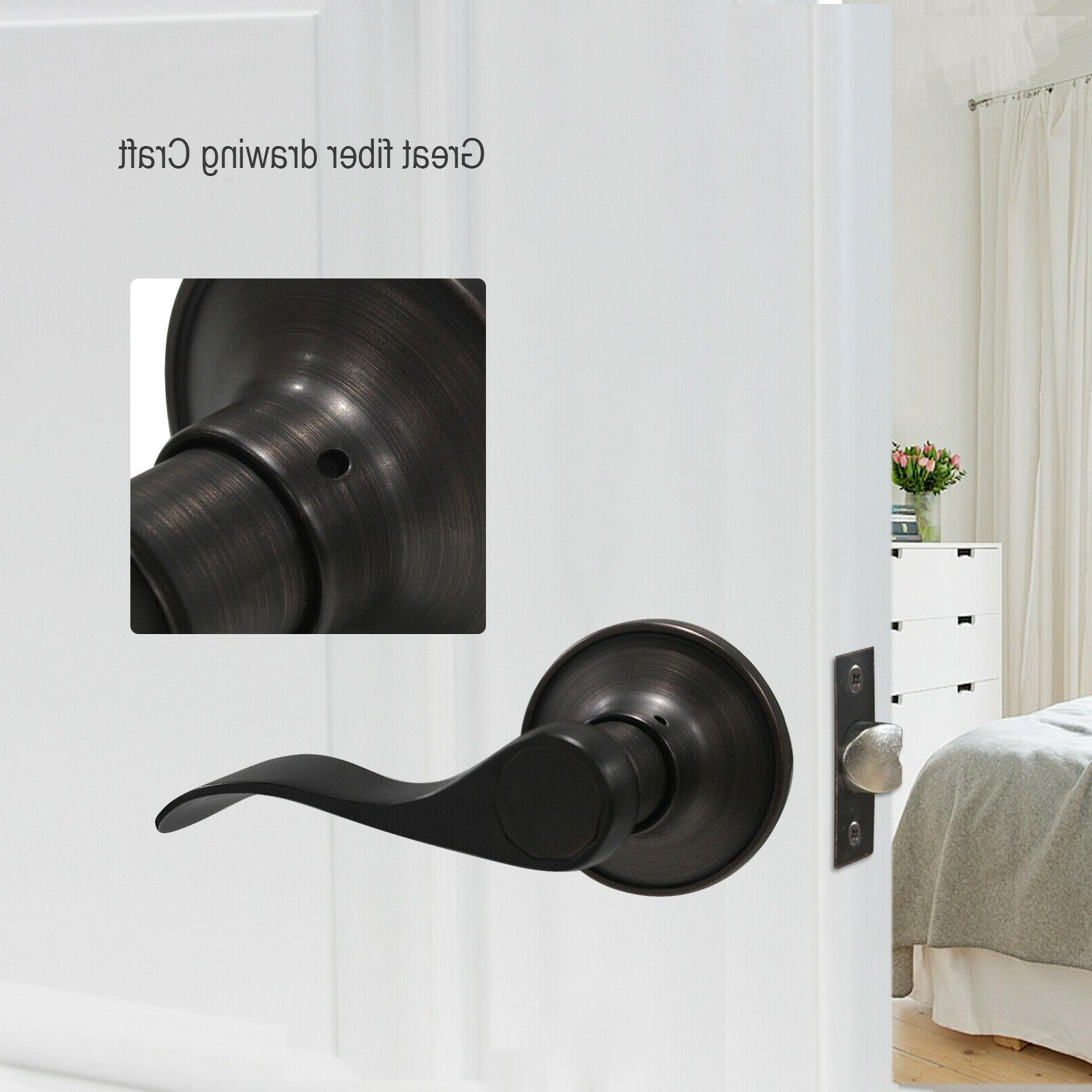 Oil Rubbed Bronze Lever Lock Door Handles Entry/Passage Privacy/Dummy Knobs