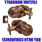 """Chronos"" Privacy Antique Copper Finish, Door Lever Lock Set"