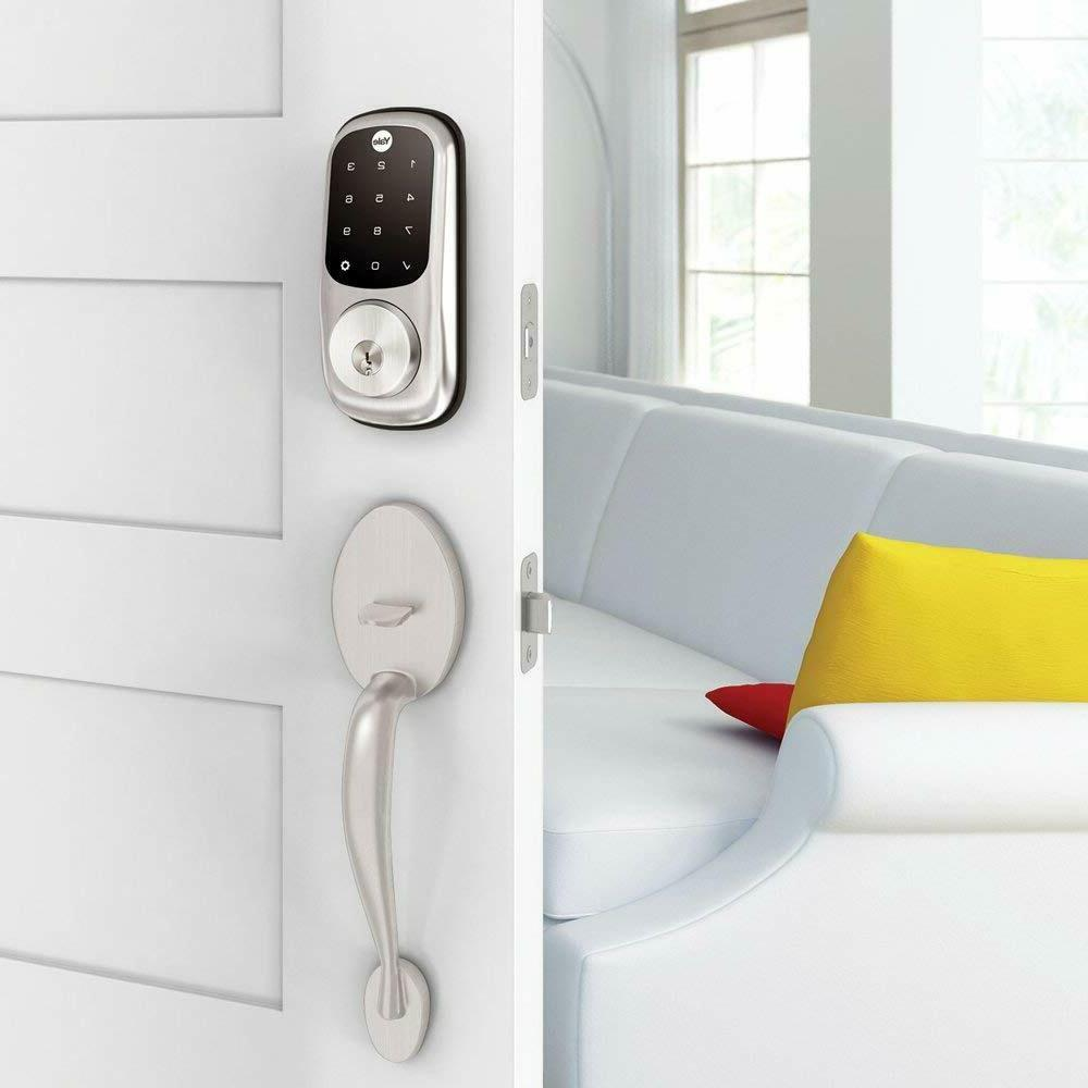 Yale Real Living Electronic Deadbolt Satin Nickel