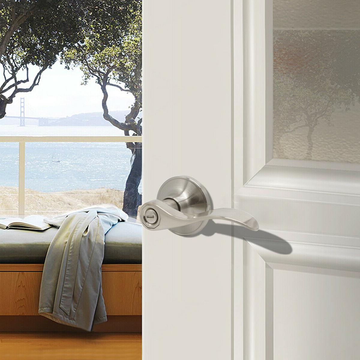 Satin Handle Privacy/Dummy Knobs Lockset