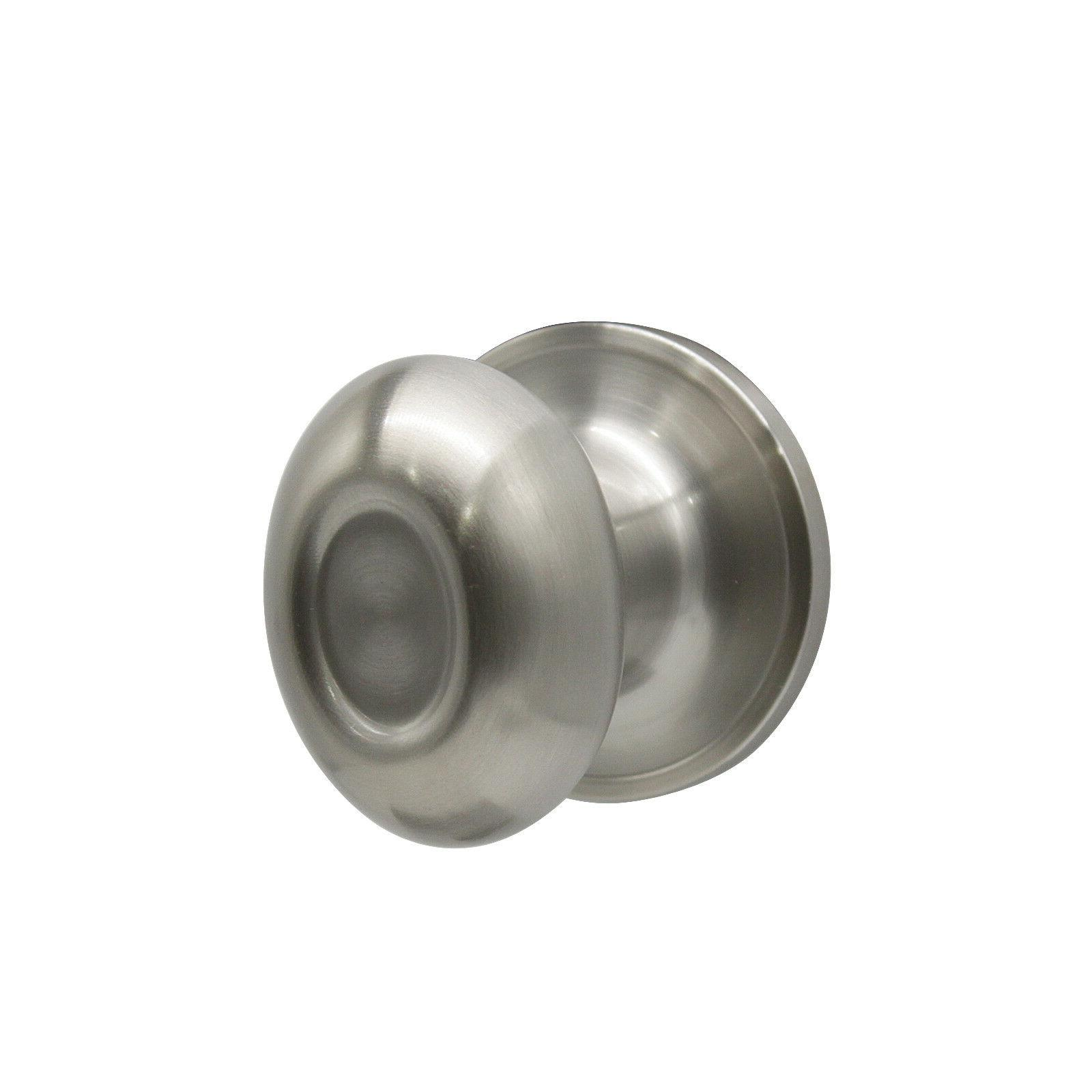 Satin Nickel Oval egg Privacy Door Knobs