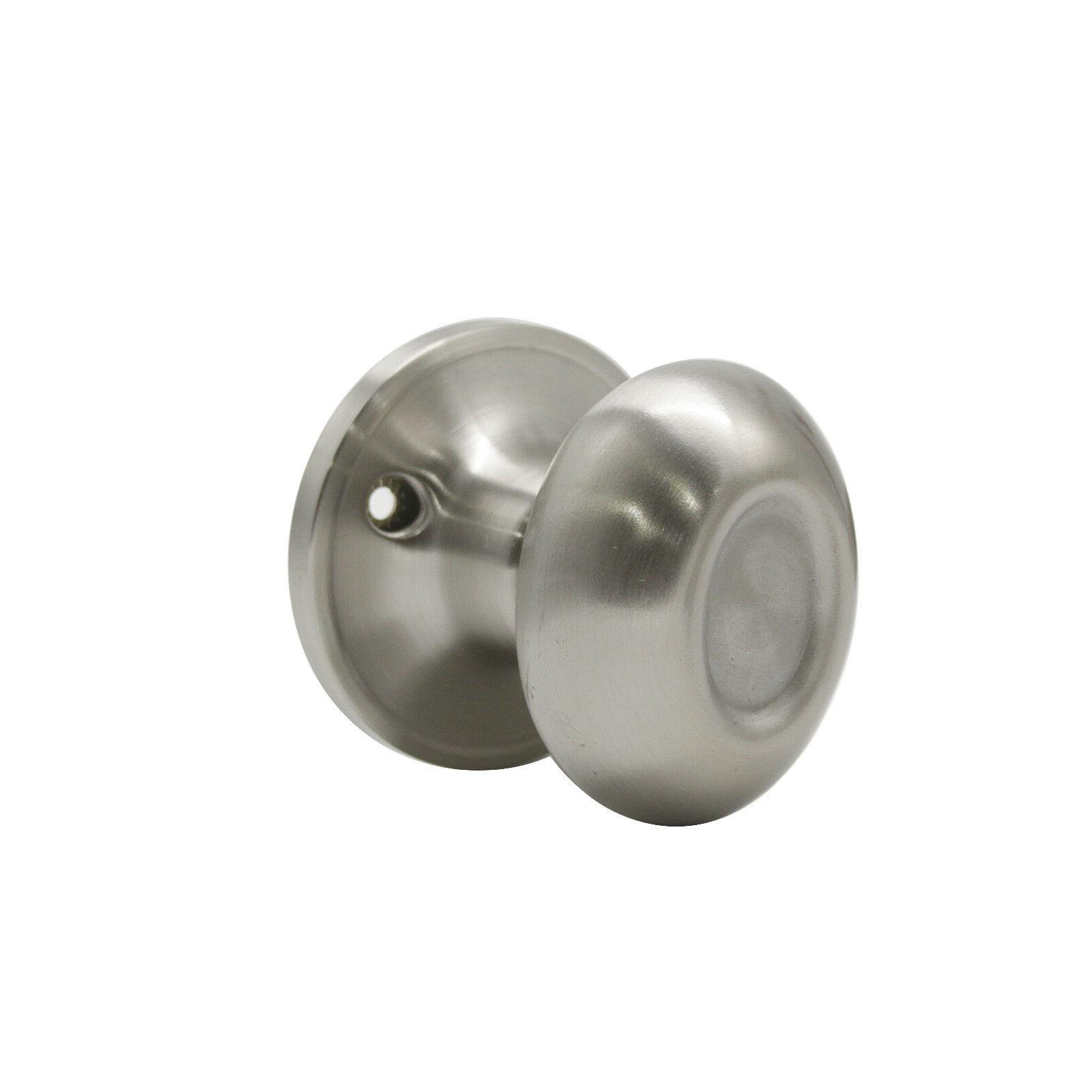 Satin Nickel Knob Oval Door Interior Knobs