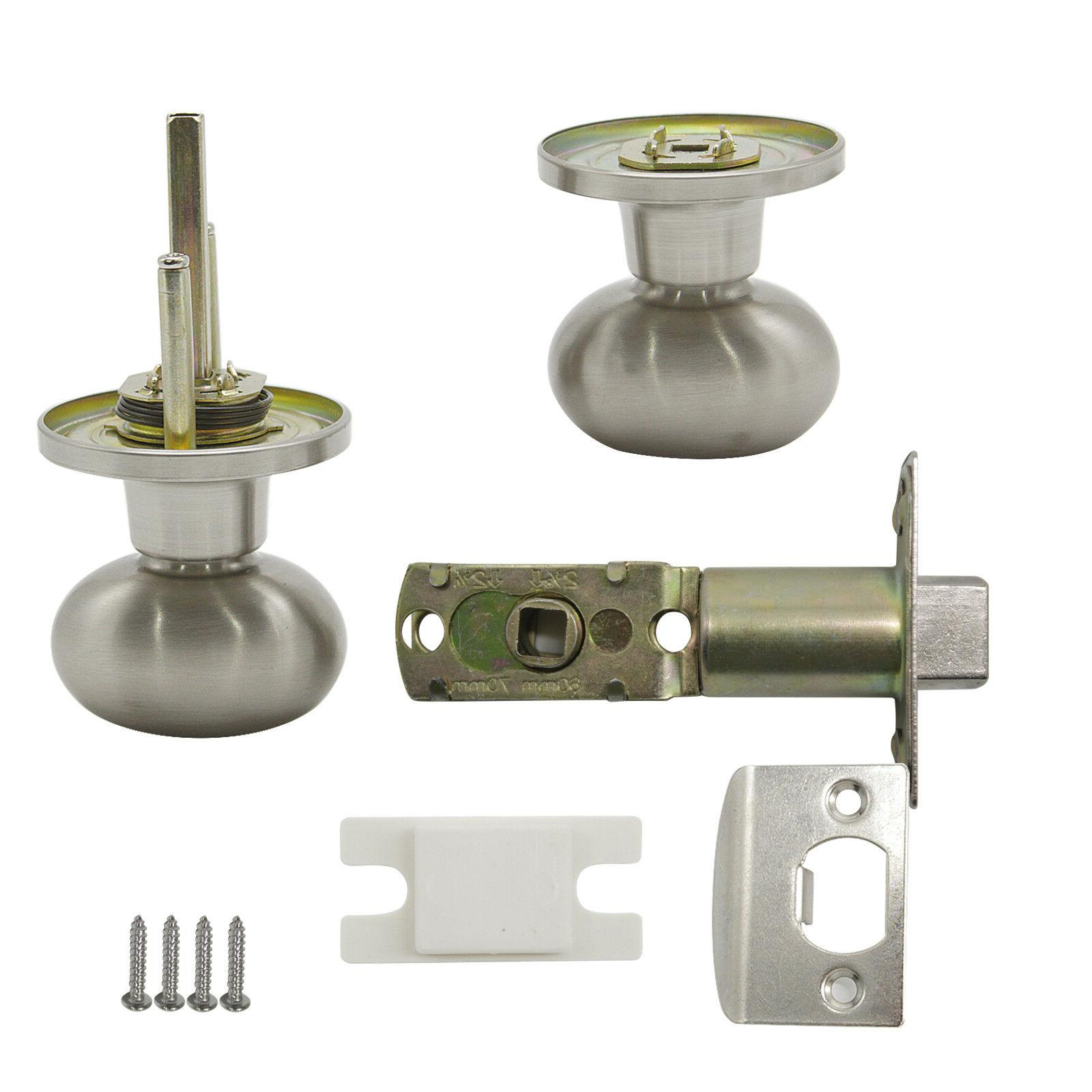 Satin Nickel Oval egg Door Handle Knobs