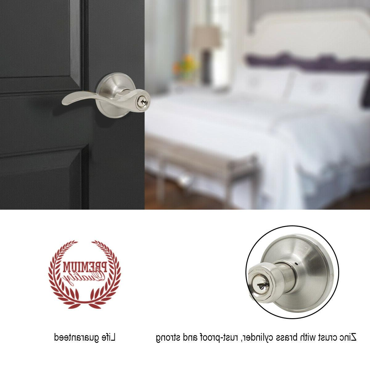 Brushed Nickel Front Handle and deadbolt Interior Lever